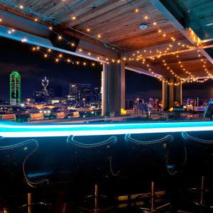 The Gallery Rooftop Bar at CANVAS Hotel in Downtown Dallas