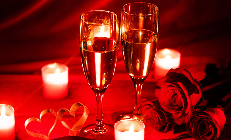 CANVAS Valentine's Day Special Glasses of Champagne