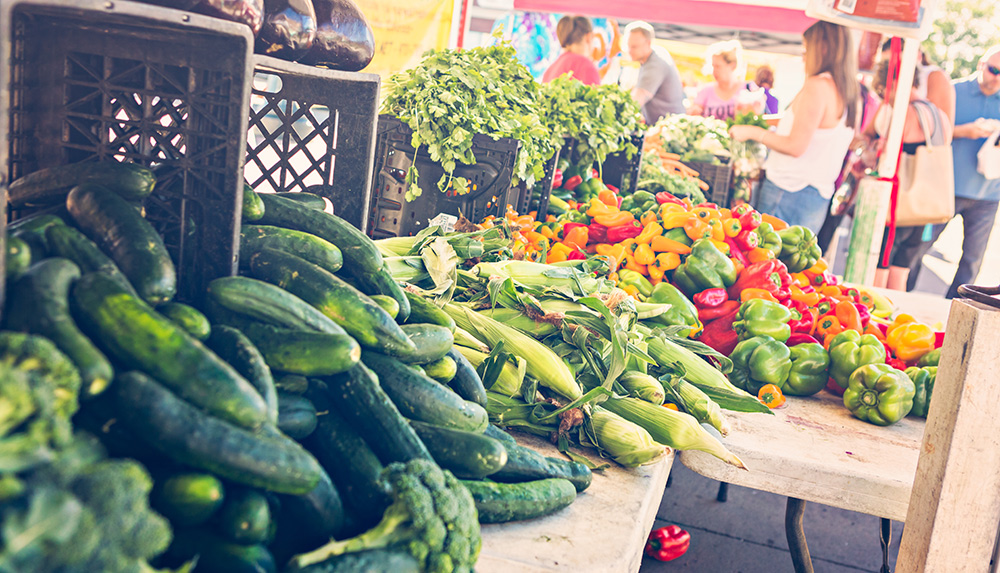 Vegetables at a Farmers Market